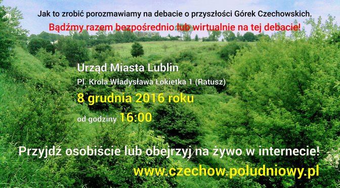 Debata publiczna o przyszłości Górek Czechowskich