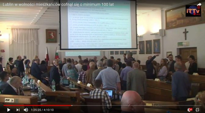 Lublin w wolności mieszkańców cofnął się o minimum 100 lat