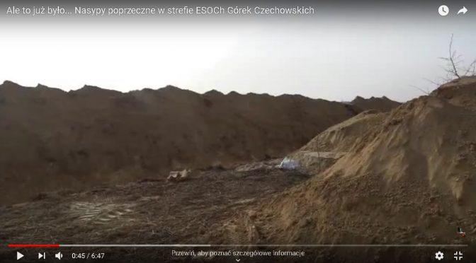 Ale to już było… Nasypy poprzeczne w strefie ESOCh Górek Czechowskich